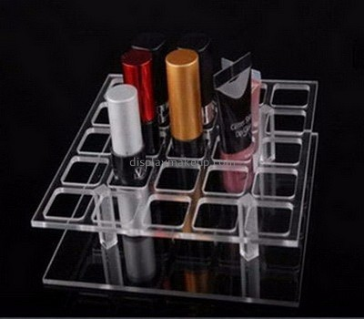 Custom transparent acrylic cosmetic display with dividers DMD-003