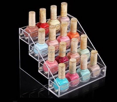 China acrylic makeup display stand suppliers custom design plastic retail displays nail polish wall rack acrylic DMD-211