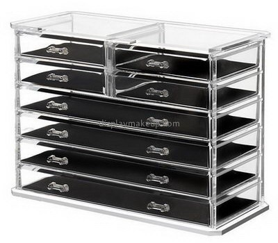 Customized acrylic makeup storage containers cheap makeup organizer acrylic makeup organizer with drawers DMO-160