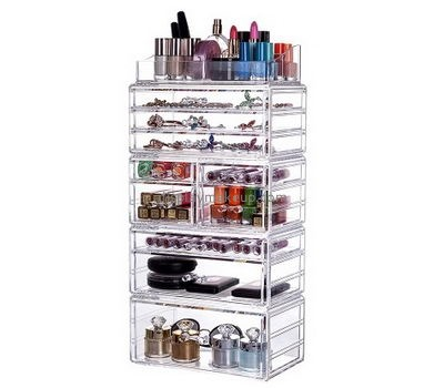 Custom clear acrylic storage boxes cosmetic storage containers clear makeup box DMO-185