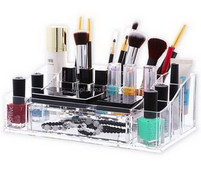 Custom clear plastic makeup organizer lucite organizer acrylic makeup organizers with drawers DMO-241