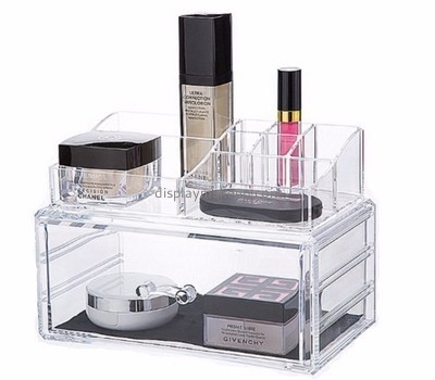 Customized clear makeup storage box tabletop cosmetic organizer container store acrylic drawers DMO-271