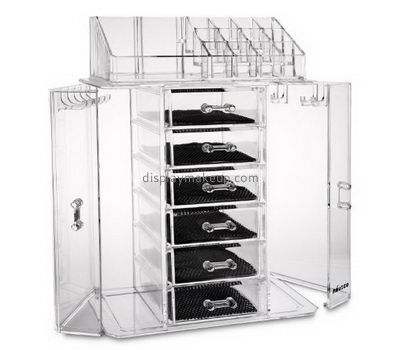 Custom clear acrylic vanity cosmetic makeup storage drawers organizer DMO-382