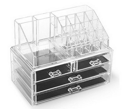 Custom acrylic perspex cosmetic storage 4 drawers makeup shelf organizer DMO-395