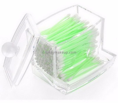 Acrylic display supplier custom acrylic q tip and cotton ball holder dispenser DMO-426
