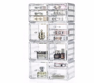 Acrylic suppliers custom clear acrylic cosmetic makeup drawer organizer DMO-452