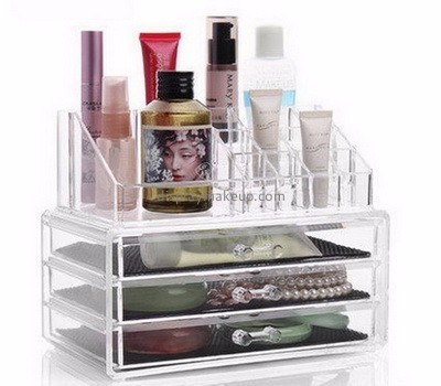 Acrylic plastic supplier custom acrylic clear makeup containers organizer DMO-458