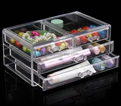 Acrylic boxes suppliers customize acrylic storage containers cheap makeup organizer with drawers DMO-542