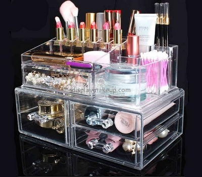Acrylic manufacturers customize cheap acrylic storage drawers makeup holders DMO-574