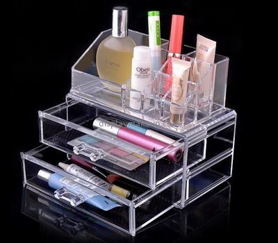 Acrylic display factory customized lucite 3 drawer makeup storage organizer boxes DMO-591