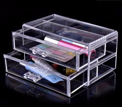 Acrylic products manufacturer customized acrylic drawer organizer box for makeup DMO-619