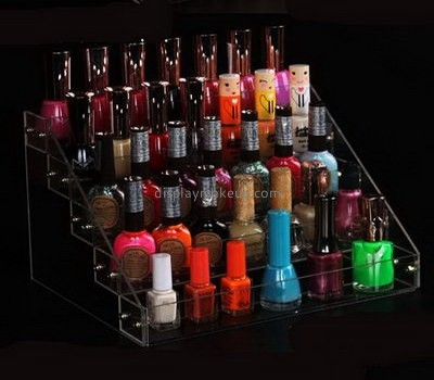 Makeup display stand suppliers customized acrylic nail polish and makeup organizer  stand DMD-480
