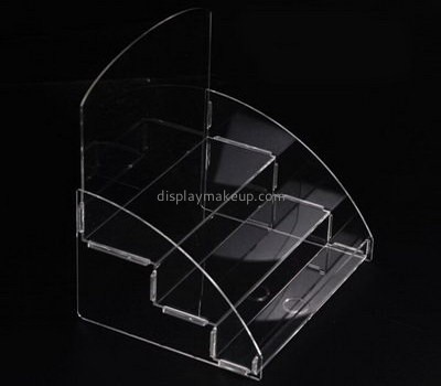 Lucite manufacturer customized acrylic tiered vanity makeup holder display stands DMD-516