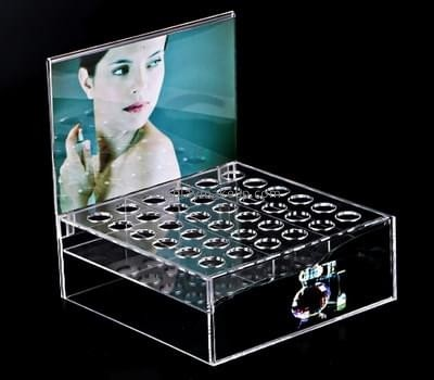 Plastic fabrication company custom design plexiglass makeup brush holder DMD-777
