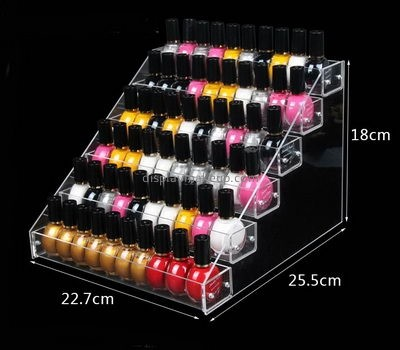 Cosmetic display stand suppliers custom acrylic nail polish organizer rack DMD-926