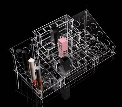 Clear acrylic supplier custom perspex lipstick holder DMD-968