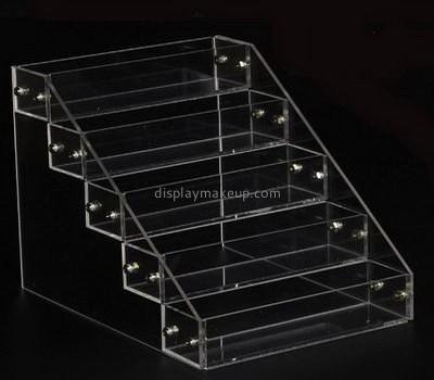 Bespoke acrylic table top tiered display stand DMD-1555