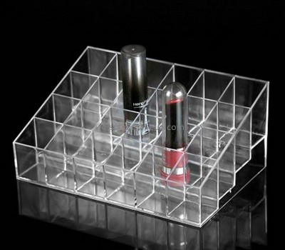 Customize clear acrylic makeup lipstick holder DMD-1675