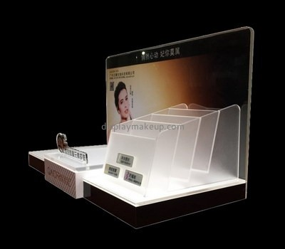 Customize perspex skin care product display stand DMD-2303