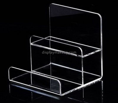 Customize acrylic tiered shelf DMD-2449