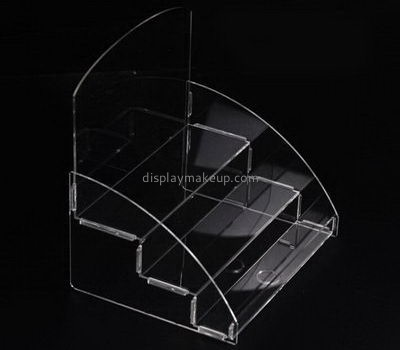 Clear acrylic 3 tiered cosmetics display stands DMD-2565