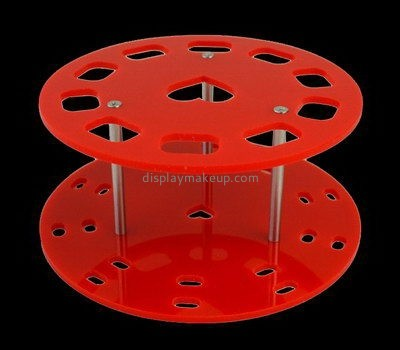 Red acrylic makeup brush display stands DMD-2579