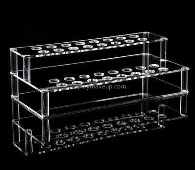 Customize counter top clear acrylic makeup brush display holders DMD-2611