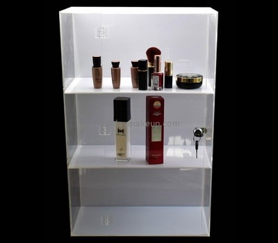 Custom 3 tiered acrylic cosmetic display cabinets DMD-2623