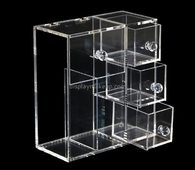Clear acrylic cosmetic organizer box custom DMD-2647