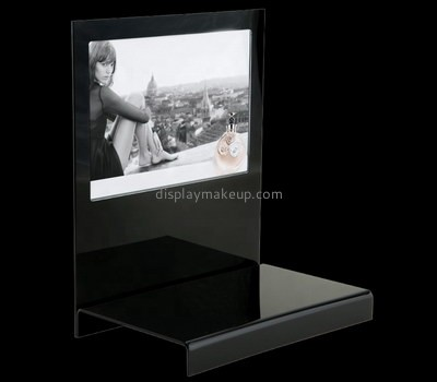 Custom black acrylic cosmetic display stand DMD-2658