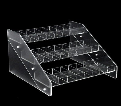 Custom 3 tiers clear acrylic cosmetic display stands DMD-2687