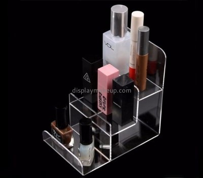 Custom 3 tiers clear acrylic makeup display stands DMD-2741