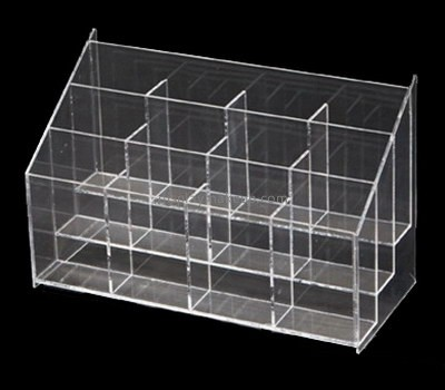 Custom tiered clear acrylic cosmetic display holders DMD-2746