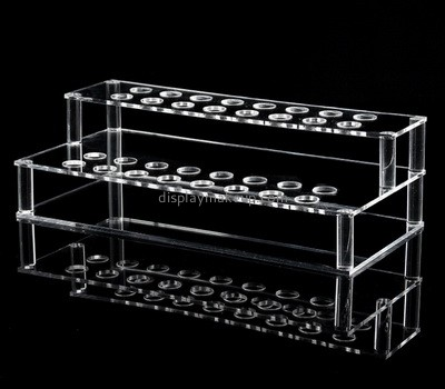 Custom tiered acrylic makeup brushes display stand DMD-2771