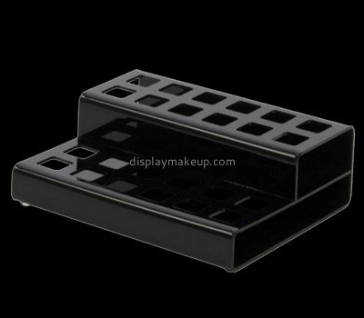 Custom 2 tiers black acrylic nail polish holders DMD-2804